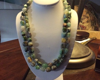 Multi-color Opal Beaded Necklace