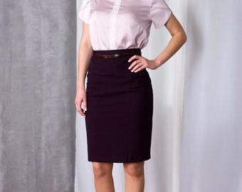 Purple pencil skirt | Etsy