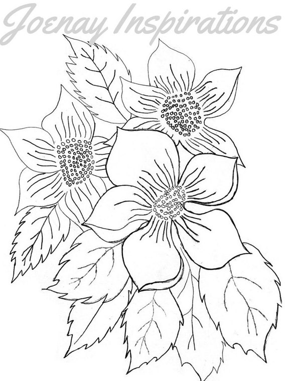 Adult Coloring Book, Printable Coloring Pages, Coloring Pages, Coloring Book for Adults, Instant Download, Fancy Flowers 1 page 11