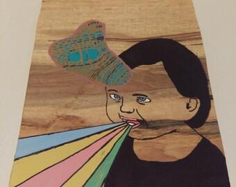 Baby Brain- Outsider, Folk Art, Original