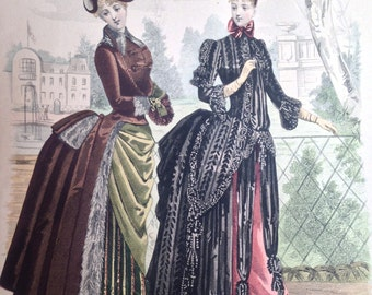 Victorian Large French Ladies Fashion Page