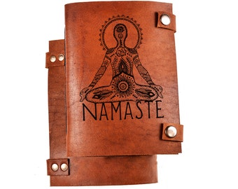 Namaste journal - yoga journal - namaste notebook - yoga notebook