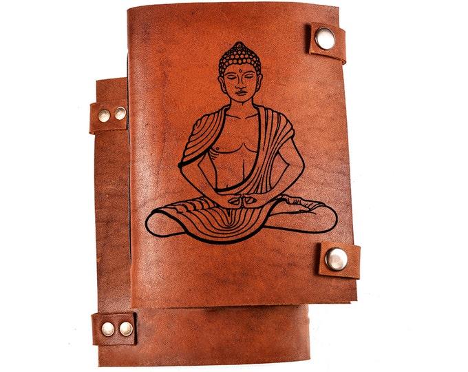 Buddha notebook - Buddha journal - buddhism journal - buddhism notebook - custom engraved notebook - buddhist journal - buddhist gift