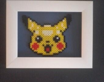 Pikachu, pokemon, illustration bead hama.