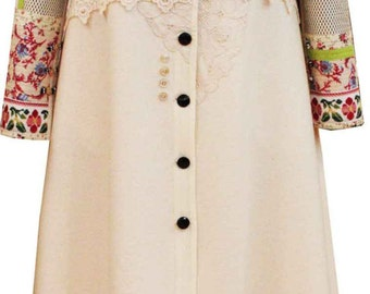 Wool fine spring coat