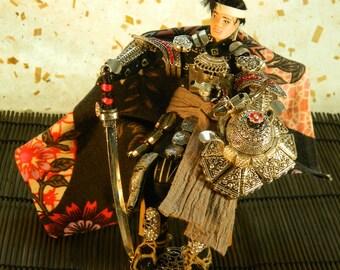 ooak Japanese samuraï doll : Solitude of the Brave
