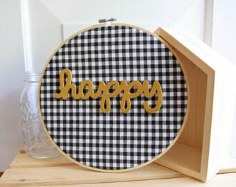 "Handmade Wall Decor 10"" Embroidery Hoop Wall Art"