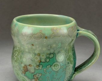 Aquamarine Crystalline Glazed Mug