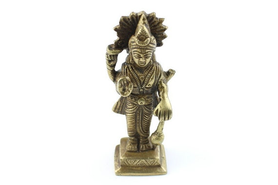 Vishnu Statue, Vintage Brass Statue, Meditation Statues, Prayer, Home Decor, Alter, Spiritual