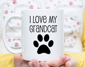 I Love My Grand Cat, Cat Grandma Gift, Cat Grandpa Gift, Cat Lover Gift, Gift for Grandma, Gift for Grandpa, Gift for Grandparents, Cat Mugs