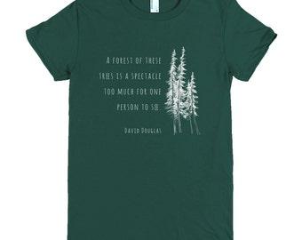 Douglas Fir Women's Forest Hiking Nature Tee