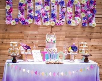 Purple Ombre Linen - ultra violet table - Purple Tablecloth - Purple Birthday - Girl Birthday - Purple Wedding - Purple Ombre - Mermaid Birt