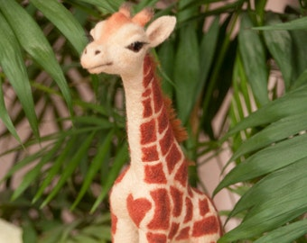 Giraffe Jeanette Needle Felted toy