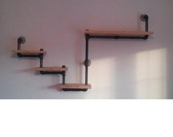 Unique Plumbing Pipe Shelf