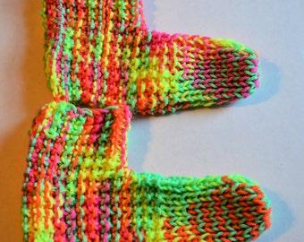 neon colored knit socks