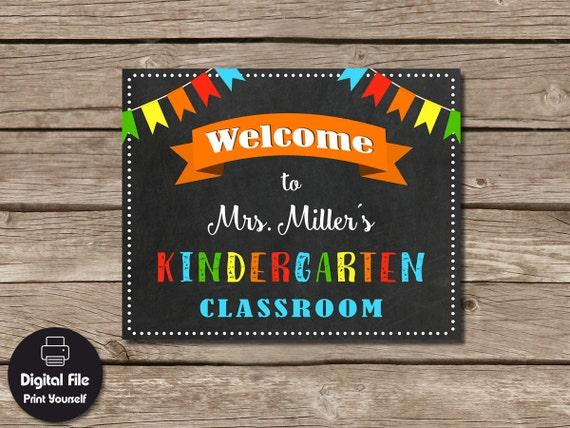 Classroom Welcome Decor : Personalized teacher gift kindergarten classroom welcome