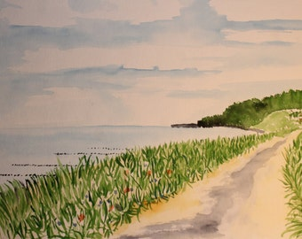Original Watercolour - Dühnenweg on Hiddensee