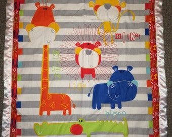 safari crib quilt