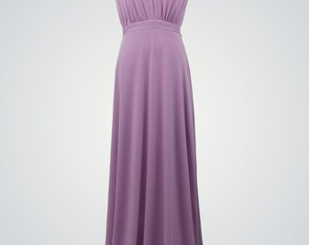 Purple Formal Dress,Purple Dress,Floor-Length Evening Gown,Infinity Dress,Lavender Dress,Bridesmaid Dress,Maxi Dress,Wrap Convertible Dress