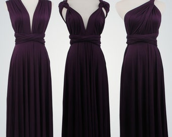 Short Wrap dresses, Wrap dresses, Purple Dress,Convertible bridesmaid dress, Twist wrap dress short, Infinity convertible wrap dress