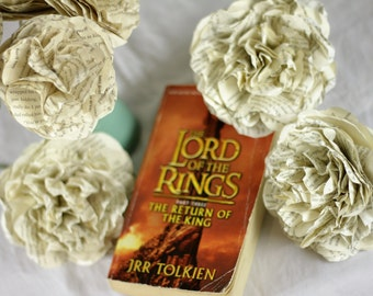 CUSTOM MADE Lord of the Rings Flower Bouquet Using A Second Hand Novel