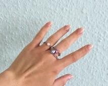Crystal Rings - Swarovski & Stainless Steel Chain