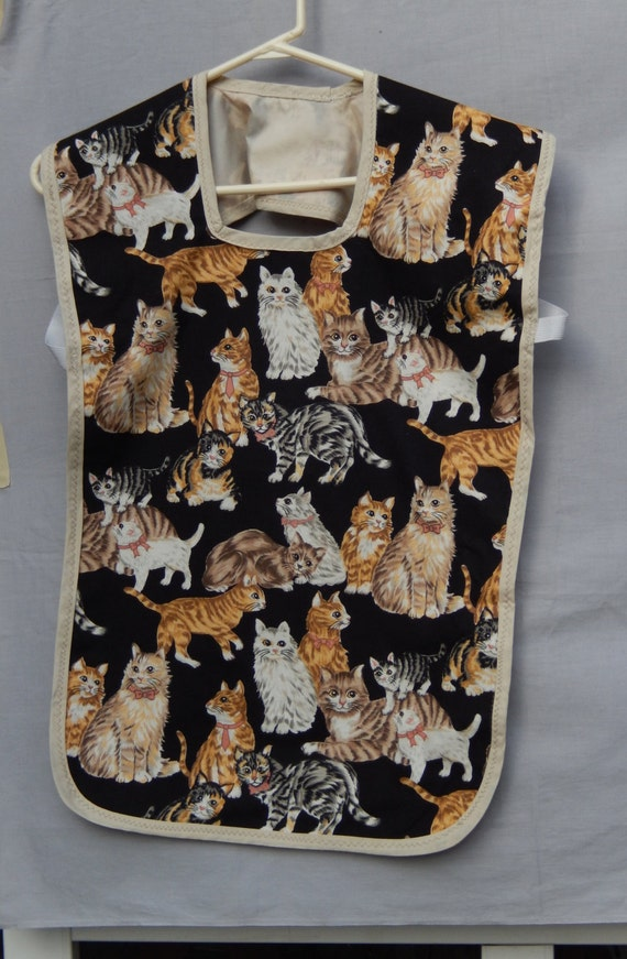 Cats themed pre school art smock childs arts and crafts for Cat art and craft