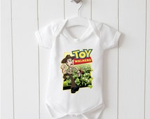 Toy Story and The Walking Dead. Funny, Cute Non Personalised Baby Grow, Bodysuit Gift.