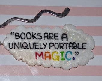 Stephen King Quote Books are Magic Keyring