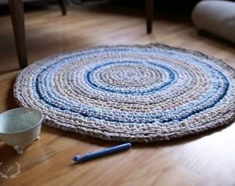 Crochet Rag Rug, Crochet Rug, Floor Rug, Crochet Rag Rug, Nursery Rug,