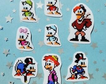 Ducktales Vinyl Pixel Sprite Stickers - set of eight (8)