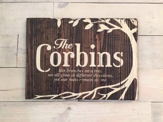 Like Branches On A Tree Quote: Family Like Branches On A Tree Sign Personalized Pallet Sign