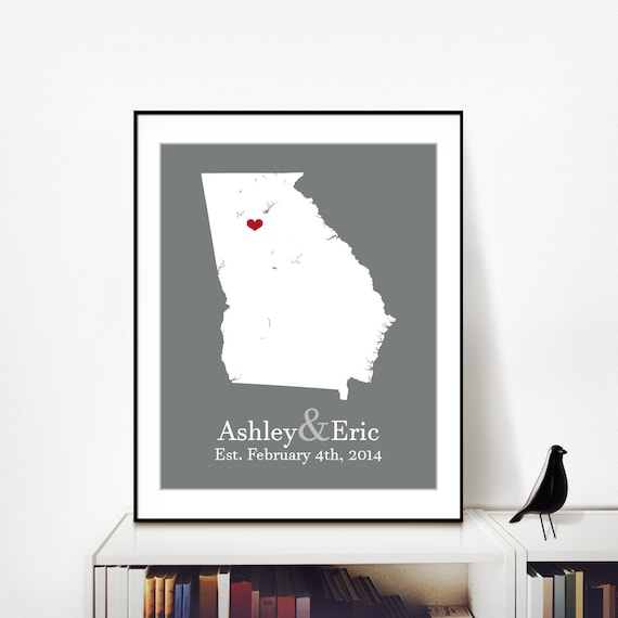 Gift For 13th Wedding Anniversary: 40th Wedding Anniversary Gift 13th Wedding By PersonalizedMaps