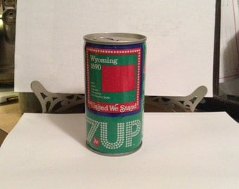 1976 Wyoming 7 Up can, 7Up, Wyoming, Soda can, Pop can,