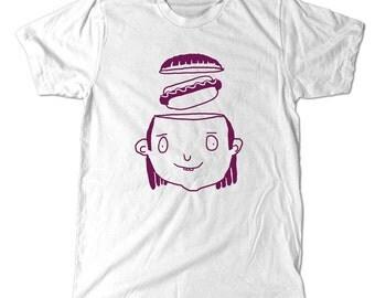 Hotdog T-Shirt, Funny hot dog weird drawing tee shirt