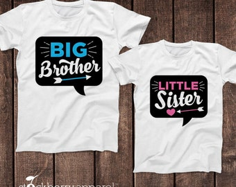 Big Brother Little Sister Shirts - Big Brother Little Sister Set - Matching Sibling Outfits - Big Brother Little Sister Outfits Photo Props