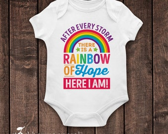 Rainbow Baby Bodysuit - After Every Storm - Rainbow Baby announcement - Rainbow of Hope - Rainbow Baby Shirt - Rainbow Baby Gift Photo Prop