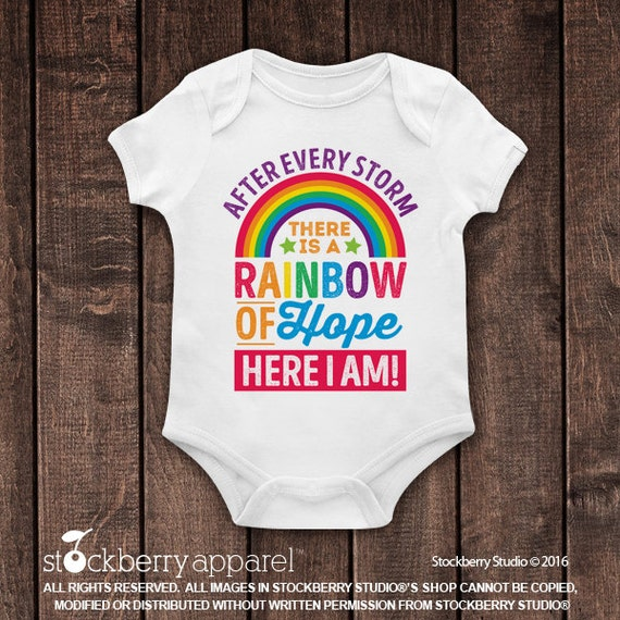 After Every Storm There Is A Rainbow Of Hope Bodysuit