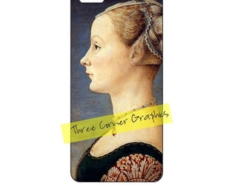 Fine art iPhone 5 printable case design (Portrait of a Young Woman, Antonio Pollaiuolo); DIY print at home iPhone accessories for 5/5S/SE