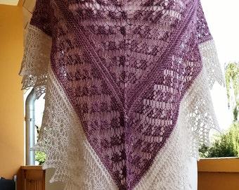Summerly stole Merino Wool/silk handmade