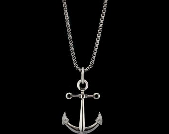 Anchor Necklace Sterling Silver Sailor Pendant