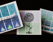 Cute Greeting Cards | Variety 3-pack | Camping, Sailing, Flower