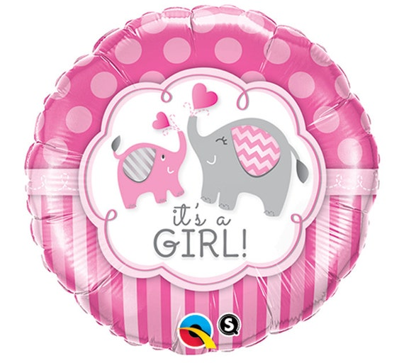 it 39 s a girl elephant 17 mylar balloon baby shower party supplies