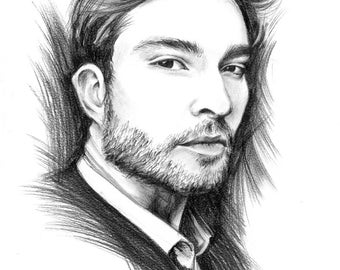 Custom Graphite Portrait from Photo, Personalized Pencil Portrait, White and Black Portrait, Pencil Drawing, A3 A4, Unique Gift Idea