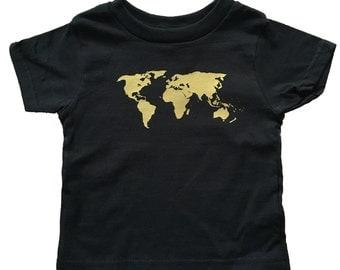 World Map Onesie/T-Shirt