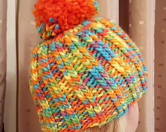 Beautiful multicolor handmade warm hat/cap for cold days adults or children