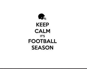 keep calm its football season svg dxf file instant download silhouette cameo cricut clip art commercial use