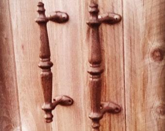 One Vintage Wrought Barn Door Handle , Gate Entry Pull Handle , Gate Hardware , Gate Handle , Wrought Iron Decor , Texas Decor , Cottage