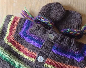 Cardigan and mittens * gracious and rustic