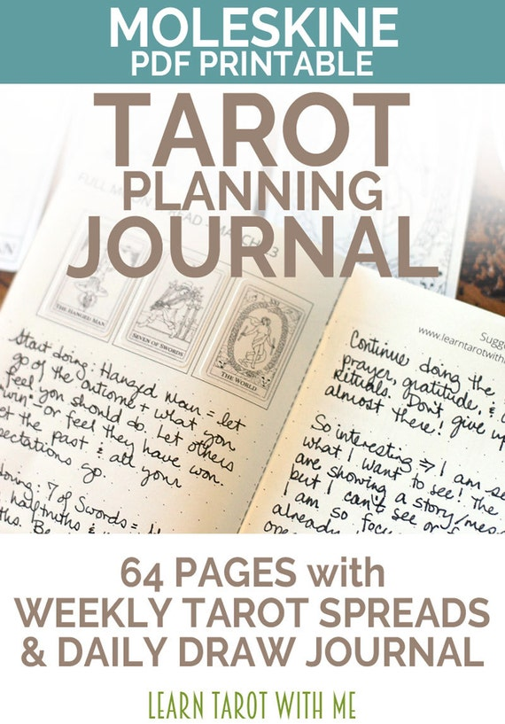 Weekly Tarot Reading I Healingtarotnet: JULY 2017 Moleskine Large PDF Printable Tarot Journal And